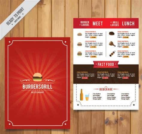menu layout definition 25 free restaurant food flyer templates psd vector