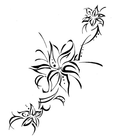 tribal lily tattoos tattoos designs ideas and meaning tattoos for you