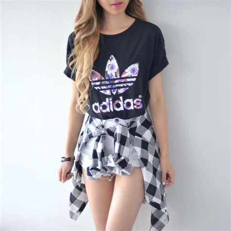 Your Jumpsuit Uiuq shirt adidas originals adidas baggy t shirt floral t shirt wheretoget
