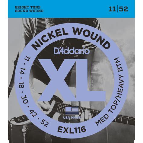 String Guitar Electric D Addario Usa Gold 0 09 Parts G 3 0 16 d addario exl116 medium top heavy bottom xl nickel wound exl116
