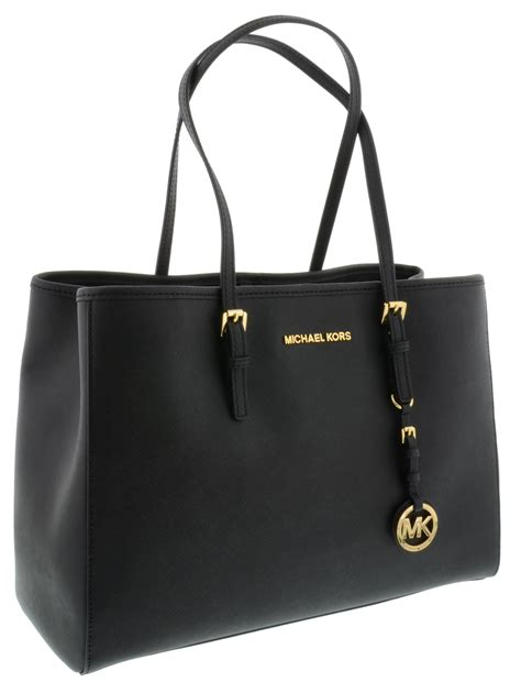 Michael Kors Jet Set Travel michael kors borsa jet set travel in pelle nera misure in