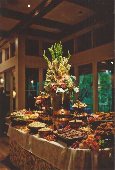 food tables at wedding reception wedding at home fooddisplay buffet tables and