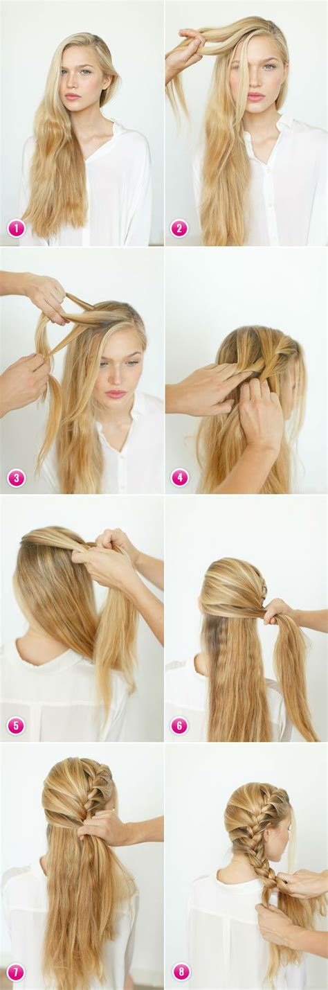 Easy braids for long hair to do yourself   Hair Style and Color for Woman