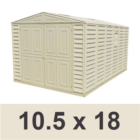 Sheds On Sale Free Shipping by Duramax 01116 Vinyl Garage Shed 10 5x18 On Sale With Free