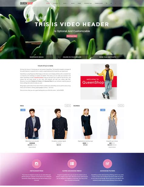 shopify themes queen ecommerce shopify fashion themes