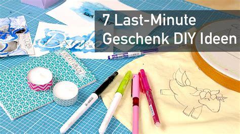minute diy geschenk ideen youtube