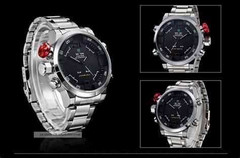 Wecker Modern 2309 herren armbanduhr mit led licht digitalanzeige datum alarm