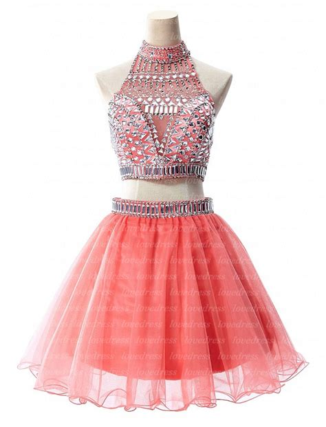 cute cheap short prom dresses 2 piece homecoming dresses coral homecoming dresses cute
