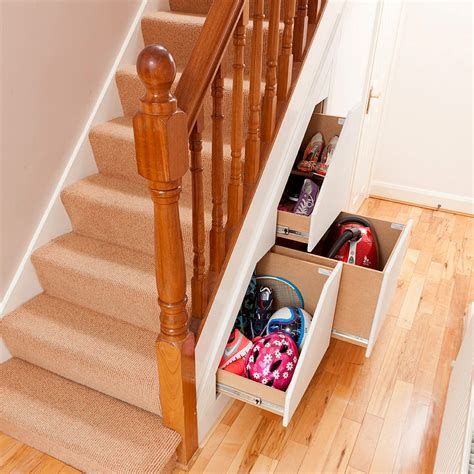 Stair Drawer System by Clever Closet 3 Drawer Understairs Storage Systems 39 Degrees