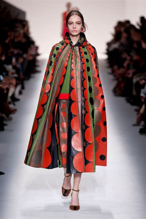 valentino fall 2014 collection style colors dots and lace in valentino fall winter 2014 2015