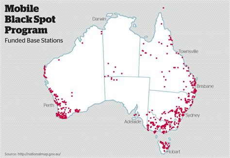 vodafone mobile coverage australian mobile black spots targeted in infrastructure