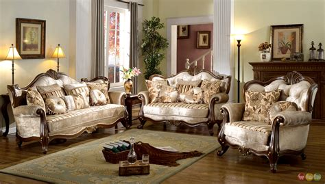 Antique Living Room Sets Provincial Formal Antique Style Living Room Furniture Set Beige Chenille Ebay