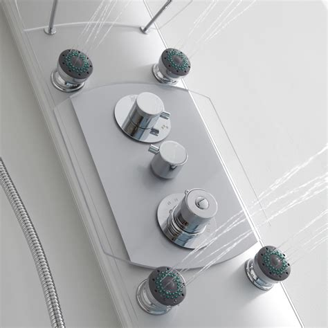 Cheap Shower Taps by Aluminium Thermostatic Shower Column Tower Panel With 6