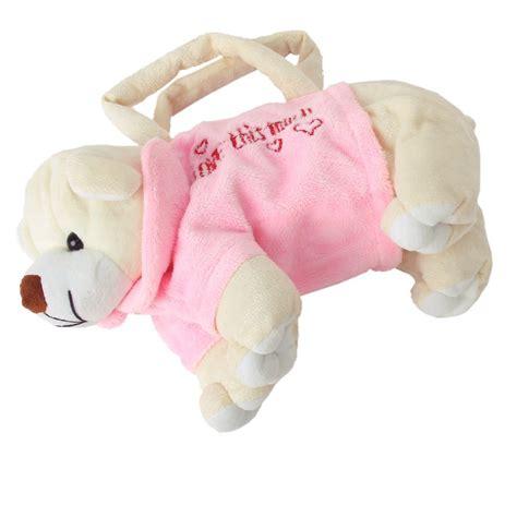 Plush Bag by Plush Toys Stuffed Animal Doggie Shape Bag
