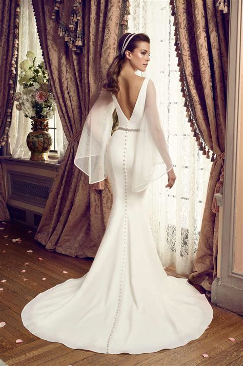 sleeve wedding dresses bell sleeve wedding dress style mikaella bridal wedding