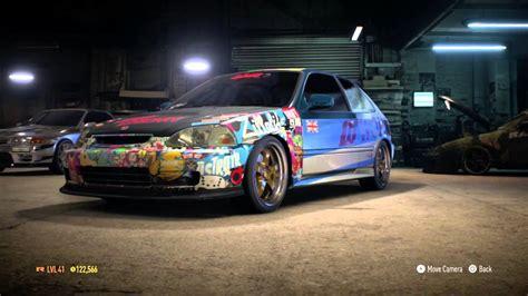 Honda Civic Aufkleber by Nfs Honda Civic Sticker Bomb Youtube