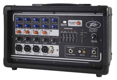peavey pv pro audio dj  channel powered amp mixer
