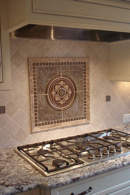 kitchen backsplash medallions 17 best images about kitchen ideas on pinterest stove