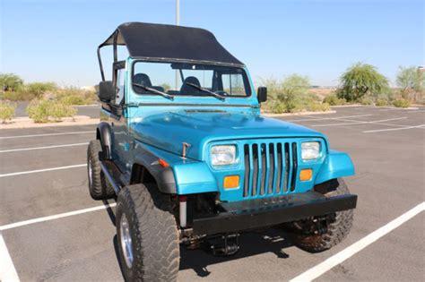 6 Passenger Jeep 1993 Jeep Wrangler Yj Custom 8 Passenger 4 0 Liter Ho
