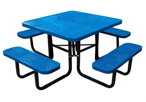 commercial picnic table 46 in perforated square picnic table commercial site
