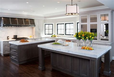 Ideas For Galley Kitchens kitchen with dual islands transitional kitchen