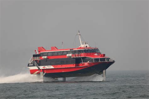hydrofoil boat speed high speed hydrofoil ferry boat editorial stock image