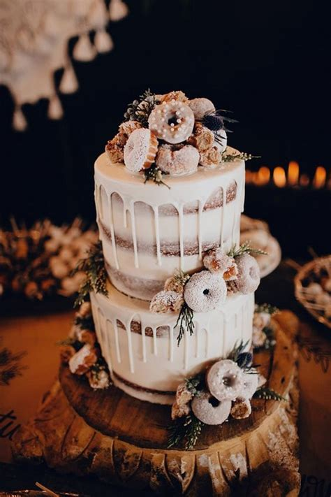 trending  delicious wedding cake ideas  doughnuts