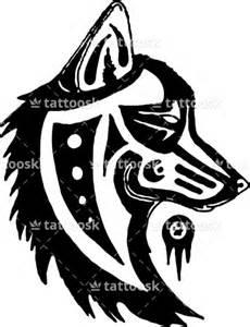 Wolf dog tribal totem native indian tattoo https tattoosk