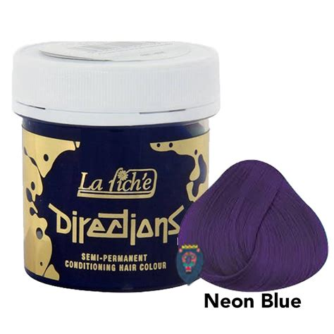 directions la riche semi permanent hair dye colour neon blue