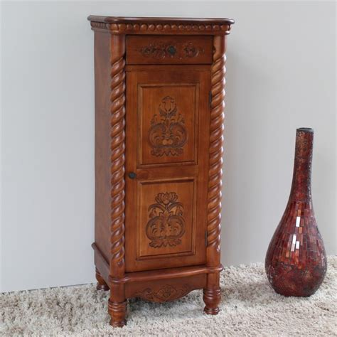 tall accent table 1 drawer tall accent table in dual walnut stain 3809