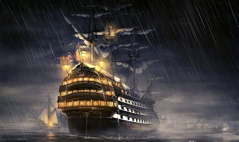 schip pirates of the caribbean pirates of the caribbean ship artwork hd artist 4k