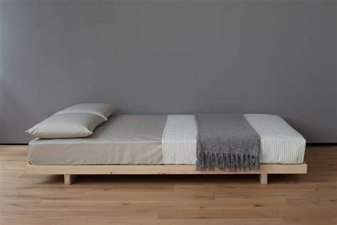 kobe low bed solid wood natural bed company