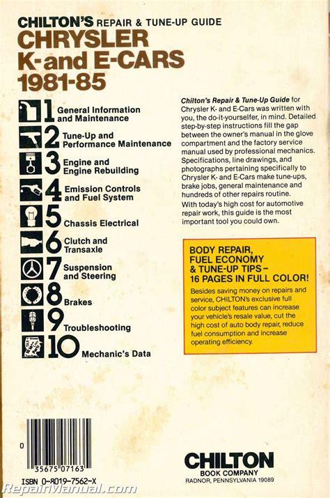service manual car repair manuals online pdf 1985 audi coupe gt auto manual service manual used chilton 1981 1985 chrysler k and e cars repair manual