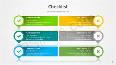 Agenda Powerpoint Checklist Template