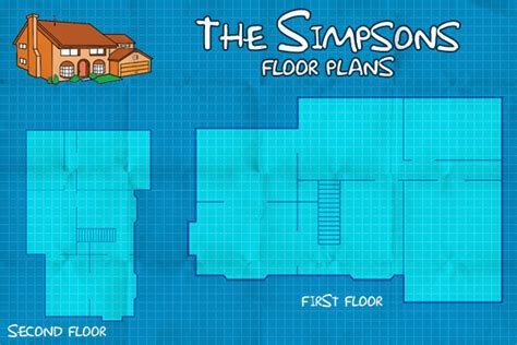 the simpsons house floor plan the simpsons virtual floor plan on behance
