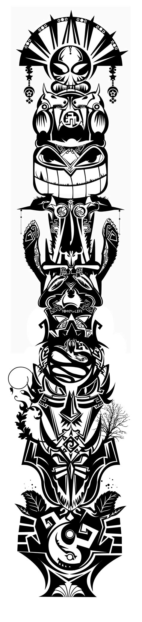 totem tattoo designs madscar vision pinterest