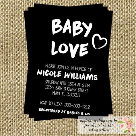 And Black Baby Shower Invitations by Baby Baby Shower Invitation Modern Black And White