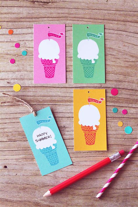free printable gift tags summer free ice cream gift tags 187 eat drink chic