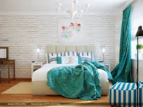 turquoise and white bedroom images