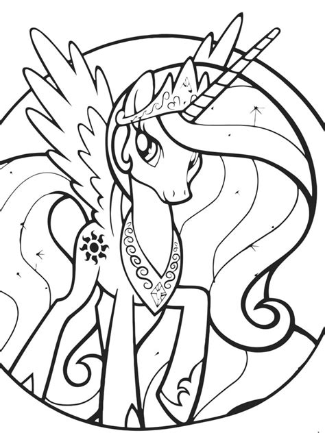 Celestia Coloring Page By Sakaki709 On Deviantart Princess Celestia Coloring Free Coloring Sheets