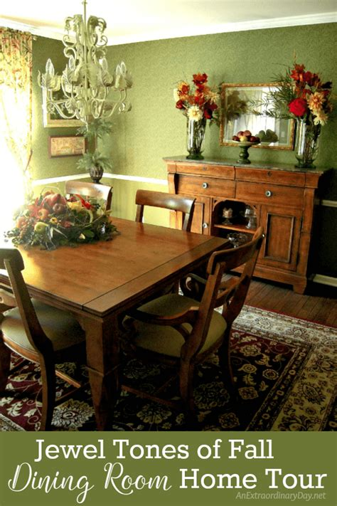 let the home tour begin the dining room dogs don t eat home tour jewel tones of fall dining room an