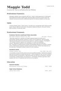 Customer Service Sales Associate Sle Resume by Customer Service Sales Associate Resume