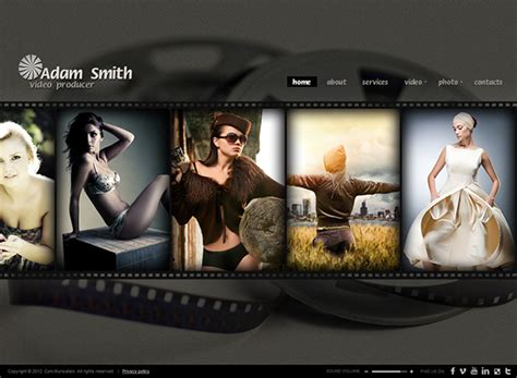 producer html5 photo video gallery template on behance