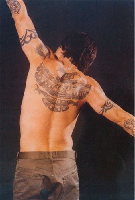 styles for and tattoos of anthony kiedis