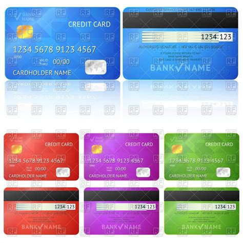 credit card html template set of realistic credit card templates 40694 calendars