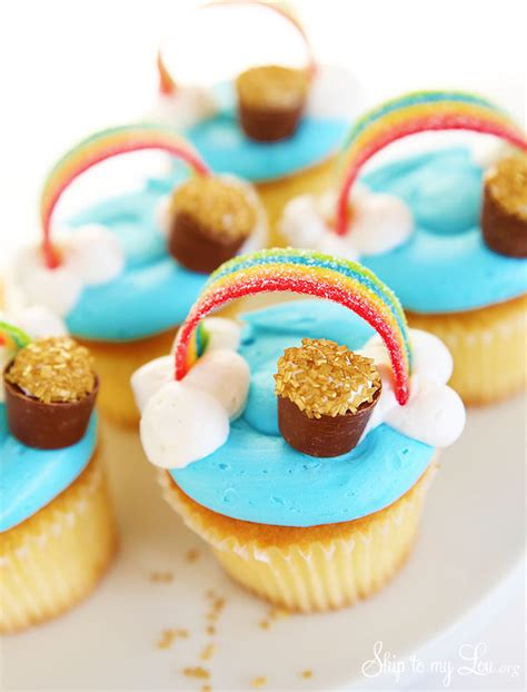 s day cupcakes rainbow cupcakes st s day skip to my lou