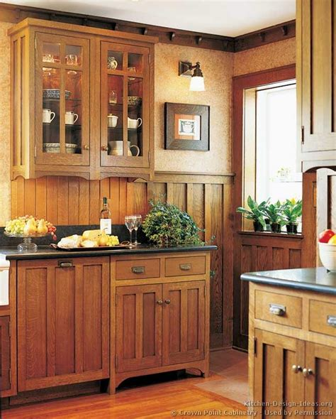 craftsman kitchen cabinets mission style kitchens designs and photos