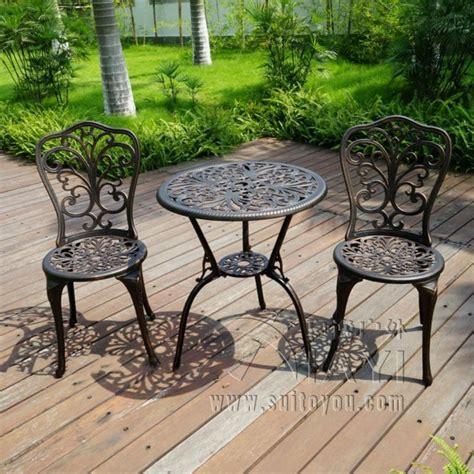 New Patio Furniture modern Design Cast Aluminum Bistro Set