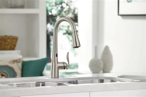 hands free kitchen faucet moen introduces a hands free faucet that actually works