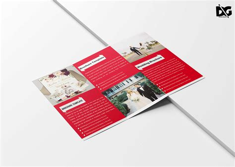 free wedding brochure templates free tri fold wedding brochure template free psd mockup